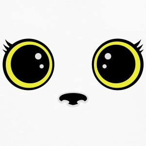 Kitten kawaii eyes Tops - Men's Premium Longsleeve Shirt