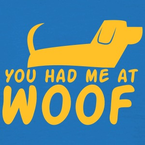 You had me at WOOF cute puppy single design  Aprons - Men's T-Shirt