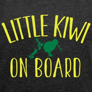 Little KIWI on board funny New Zealand Pregnancy  Hoodies & Sweatshirts - Women's T-shirt with rolled up sleeves