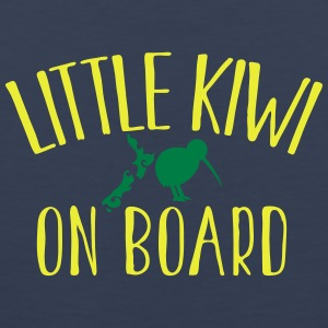 Little KIWI on board funny New Zealand Pregnancy  T-Shirts - Men's Premium Tank Top