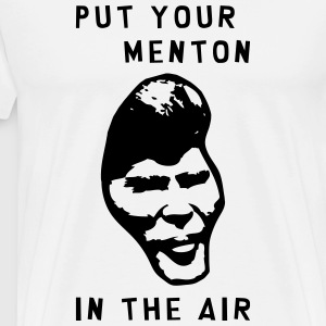 Put your menton in the air ! Kookschorten - Mannen Premium T-shirt