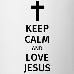 keep calm and love jesus Koszulki - Kubek