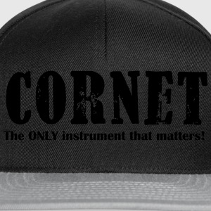Cornet, The ONLY instrume T-Shirts - Snapback Cap