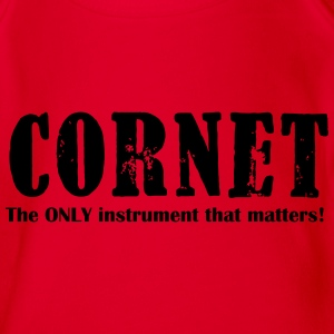 Cornet, The ONLY instrume Shirts - Organic Short-sleeved Baby Bodysuit