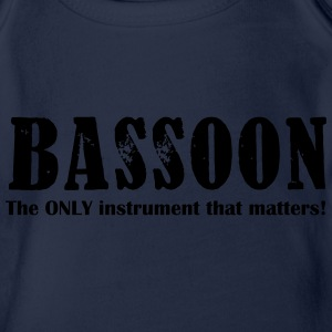 Bassoon, The Only instrum Shirts - Organic Short-sleeved Baby Bodysuit