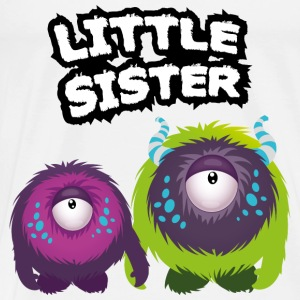 Little Sister Monster Langærmede shirts - Herre premium T-shirt