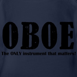 Oboe, The ONLY instrument Shirts - Organic Short-sleeved Baby Bodysuit