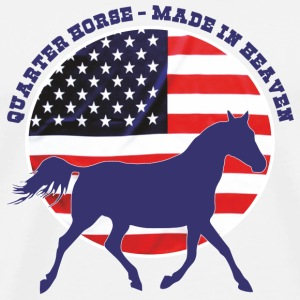 Made in Heaven Quarter Horse Vesker & ryggsekker - Premium T-skjorte for menn