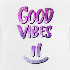 Good Vibes! Funny Smiley Statement / Happy Face Manches longues - T-shirt Bébé