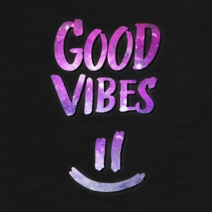 Good Vibes! Funny Smiley Statement / Happy Face Caps & Hats - Men's Premium T-Shirt