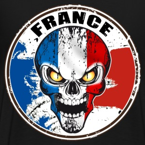 france skull Sweat-shirts - T-shirt Premium Homme