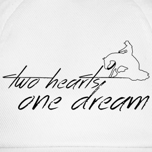 2 hearts 1 dream slider Tops - Baseballcap