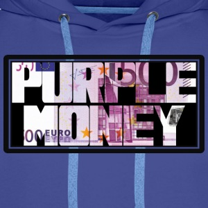 purple money 2 Tee shirts - Sweat-shirt à capuche Premium pour hommes