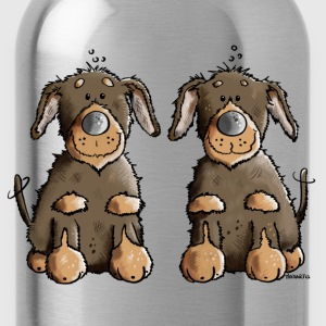 Two Dachshunds T-Shirts - Water Bottle