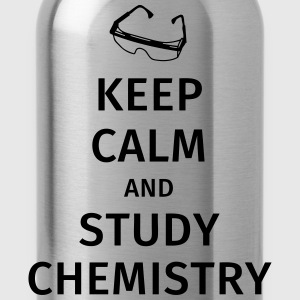 keep calm and study chemistry Camisetas - Cantimplora