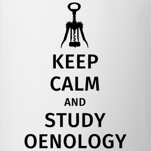 keep calm and study oenology T-skjorter - Kopp