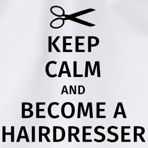 keep calm and become a hairdresser T-skjorter - Gymbag