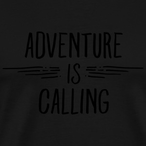 Adventure Is Calling Skjorter med lange armer - Premium T-skjorte for menn