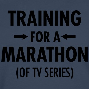Training For A Marathon (Of TV Series) T-shirts - Herre premium T-shirt med lange ærmer