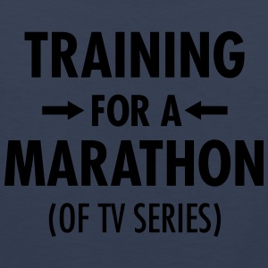 Training For A Marathon (Of TV Series) T-shirts - Mannen Premium tank top