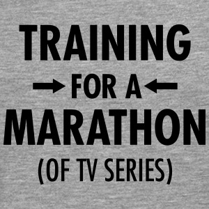 Training For A Marathon (Of TV Series) T-shirts - Mannen Premium shirt met lange mouwen