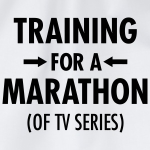 Training For A Marathon (Of TV Series) T-shirts - Sportstaske