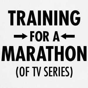 Training For A Marathon (Of TV Series) T-shirts - Forklæde