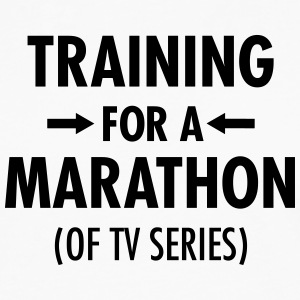 Training For A Marathon (Of TV Series) T-skjorter - Premium langermet T-skjorte for menn