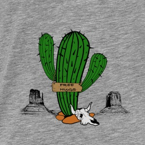 Knuffel, Sexy eenzame cactus Sweaters - Mannen Premium T-shirt