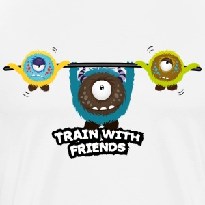 Train with friends Long sleeve shirts - Men's Premium T-Shirt