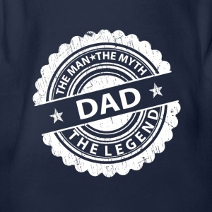 Dad-The Man The Myth The Legend Shirts - Organic Short-sleeved Baby Bodysuit