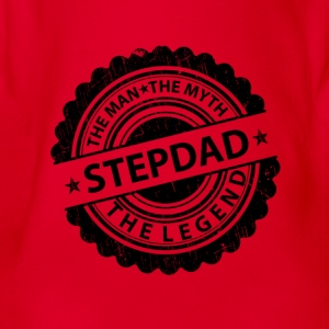 Stepdad-The Man The Myth The Legend Shirts - Organic Short-sleeved Baby Bodysuit