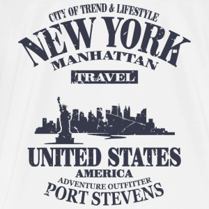 New York  - Vintage Look Tops - Men's Premium T-Shirt