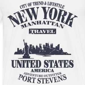 New York  - Vintage Look Hoodies & Sweatshirts - Men's Premium T-Shirt