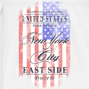 New York City - USA Flag - Vintage Look Sportbekleidung - Männer Premium T-Shirt