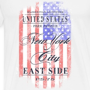 New York City - USA Flag - Vintage Look Long Sleeve Shirts - Men's Premium T-Shirt