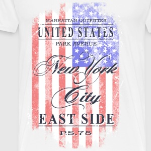 New York City - USA Flag - Vintage Look Tops - Männer Premium T-Shirt