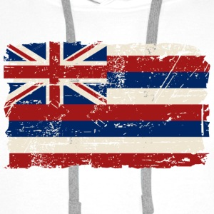 Hawaii Flag  - Vintage Look T-Shirts - Männer Premium Hoodie