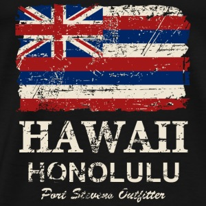 Hawaii Flag - Honolulu - Vintage Look Pullover & Hoodies - Männer Premium T-Shirt