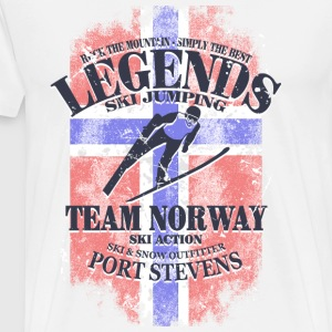Ski Jumping  - Norway Flag  Aprons - Men's Premium T-Shirt
