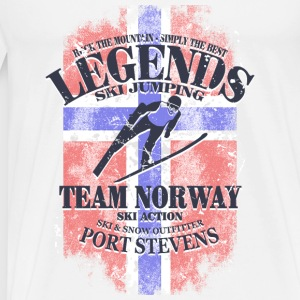 Ski Jumping  - Norway Flag Sports wear - Men's Premium T-Shirt