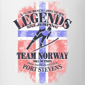 Ski Jumping  - Norway Flag T-Shirts - Mug