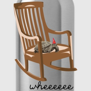 turtle on rocking chair T-Shirts - Water Bottle