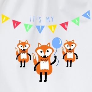 Blanco birthday_fox Camisetas - Mochila saco