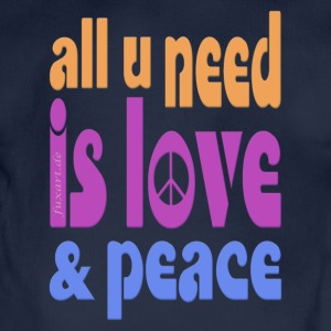 love and peace Pullover & Hoodies - Baby Bio-Kurzarm-Body
