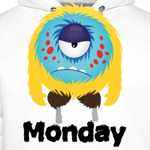 lundi Monster Tee shirts - Sweat-shirt à capuche Premium pour hommes