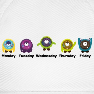 Days of the week Monster T-Shirts - Baseball Cap
