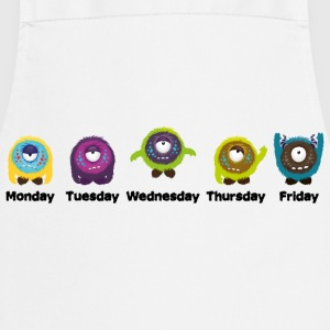 Dagen van de week Monster Shirts - Keukenschort