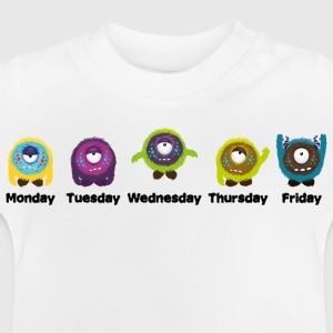 Dagen van de week Monster Shirts - Baby T-shirt