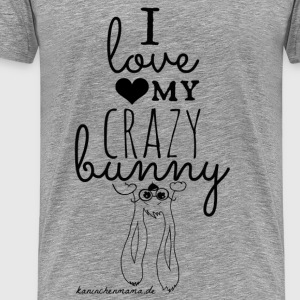 I love my crazy bunny Tops - Männer Premium T-Shirt